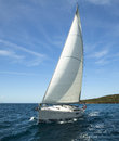 Luxury yacht at ocean race. Sailing regatta. Royalty Free Stock Photo