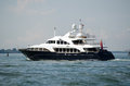 Luxury yacht sea bluez sailing the venice lagoon italy june through venetian on june mega is one of most Stock Photo