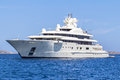 Luxury yacht in the sea Royalty Free Stock Photo