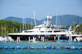 Luxury yacht on sea thailand Royalty Free Stock Image