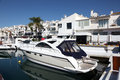 Luxury yachts in puerto banus spain the marina of marbella Royalty Free Stock Photography