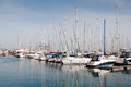 Luxury Yachts resting at Larnaca marina Royalty Free Stock Photo