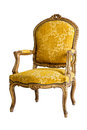 Luxury Yellow Armchair Stock Photography