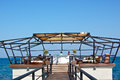 Luxuty hotel bar by the sea in cyprus lusury southern Stock Photography
