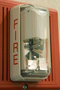 Luz la alarma de incendio Fotografía de archivo
