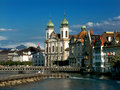 Luzern switzerland image with main touristic city in known for baroque architecture Stock Photography