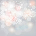 Luzes estrelas de prata em grey christmas holiday background neutro Imagens de Stock Royalty Free