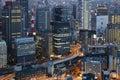 Luzes grandes da cidade osaka japan Fotos de Stock Royalty Free