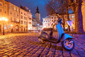 Lviv city night landscape ukraine Stock Photos
