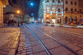 Lviv city night landscape ukraine Stock Image