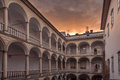 Lviv italian court in city ukraine Royalty Free Stock Photo