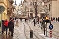 Lviv street Royalty Free Stock Photo