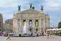 Lviv theatre of opera and ballet ukraine state academic solomiya krushelnytska Stock Images