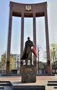 LVIV, UKRAINE - April 16, 2015 : Leader of Ukrainian national mo Royalty Free Stock Photo