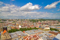 Lviv view of the city from the roof of city hall Royalty Free Stock Images