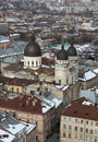 Lviv at winter view of Royalty Free Stock Photos