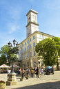 Lvov town hall council ukraine may tower of on may in ukraine has been built in century historical centre of is Stock Photo