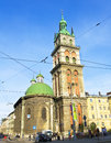 Lvov ukraine assumption church may orthodox on may in has been built in century Stock Photos