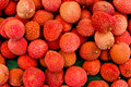 Lychee fruits at local market Stock Photo