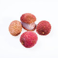 Lychee isolated on white background Royalty Free Stock Photography