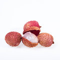 Lychee on white background Royalty Free Stock Photos