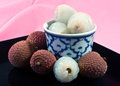 Lychees  in in bowl Royalty Free Stock Photo