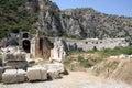 Lycian Amphitheater in Myra, Demre Royalty Free Stock Photo