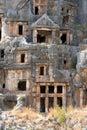 Lycian Tombs in Myra, Demre Royalty Free Stock Photo