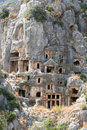 Lycian Tombs in Myra, Demre Royalty Free Stock Photo