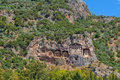 Lycian kings tombs turkey Royalty Free Stock Photography