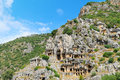 Lycian tombs in demre myra turkey Stock Image