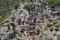 Lycian tombs in Myra, Demre, Turkey Royalty Free Stock Photo