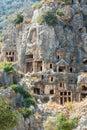 Lycian Tombs in Myra, Turkey, Demre Royalty Free Stock Photo