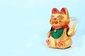 Lycklig guld- katt Royaltyfri Fotografi