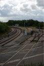Lydney junction station gloucestershire uk steam railway england Royalty Free Stock Image