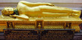 Lying Buddha statue in Buddhist temple Royalty Free Stock Photo