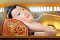 Lying Buddha statue in a temple Royalty Free Stock Photos