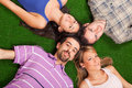 Lying on Green Royalty Free Stock Images