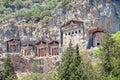 Lykian Rock Tombs, Dalyan, Turkey Royalty Free Stock Photo