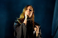 Lykke Li singer and songwriter from Sweden performs at Sonar Festival Royalty Free Stock Photo