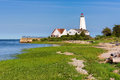 Lynde Point Lighthouse, Old Saybrook, Connecticut Royalty Free Stock Photo