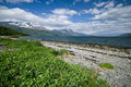 Lyngenfjord coastline Royalty Free Stock Photo
