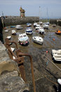 Lynmouth harbour devon england boats in the pretty at Stock Photo