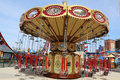 Lynn s trapeze swing carousel in coney island luna park brooklyn new york april on april was destroyed by Royalty Free Stock Photos