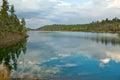 Lynx湖风景风景 库存图片
