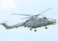 Lynx helicopter royal navy landing at cosford airbase june th Stock Photo