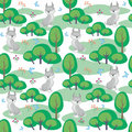 Lynx seamless pattern