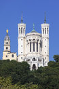 Lyon basilica in blue sky Stock Photography