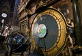 Lyon cathedral clock Royalty Free Stock Image