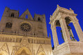 Lyon Cathedral in France Royalty Free Stock Photo